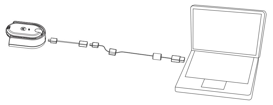 Motorola CLP Radio Programming Cable Connection
