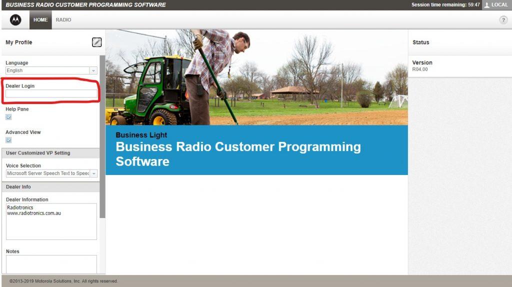 Motorola CLP Software Dealer Login