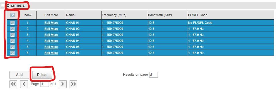 Motorola CLP Software Delete Channels