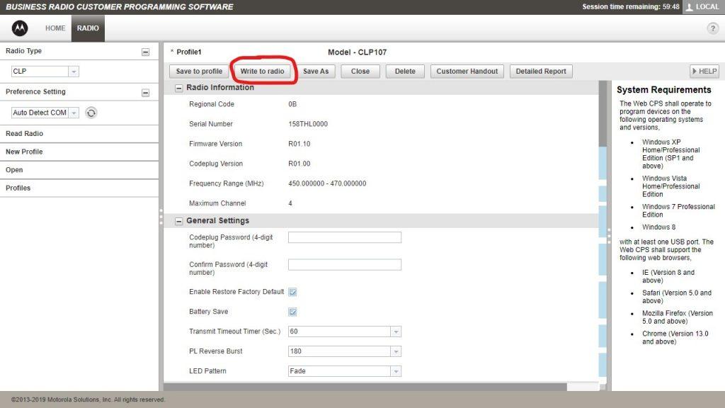 Motorola CLP Software