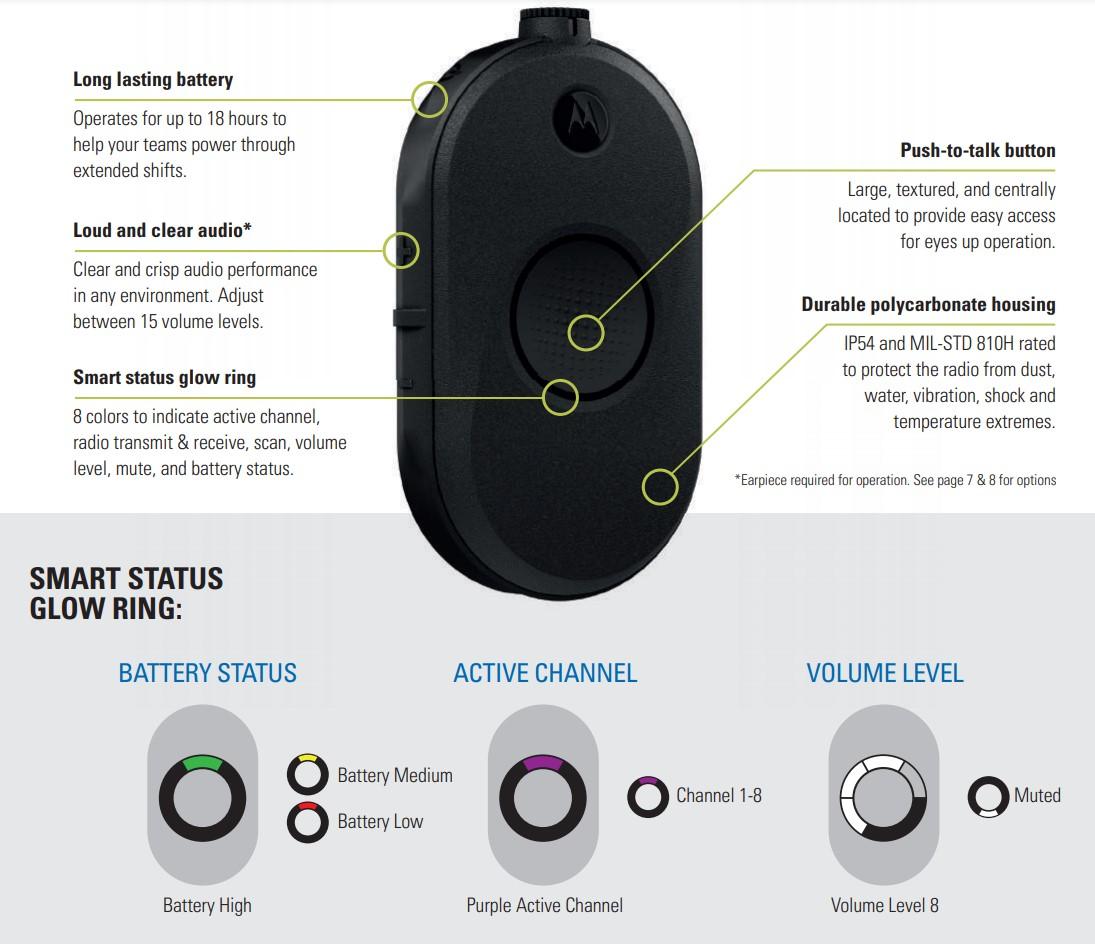 Motorola CLP107e Glow Ring