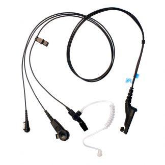 Motorola DP4400e & DP4800e 3-Wire Acoustic Tube Earpiece (Black)